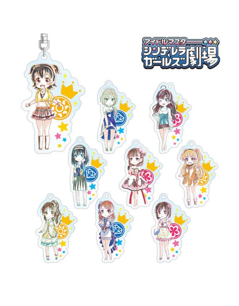 Amnibus Idolm@ster Cinderella Girls Gekijou Ani-Art Acrylic Keychain Ver. B