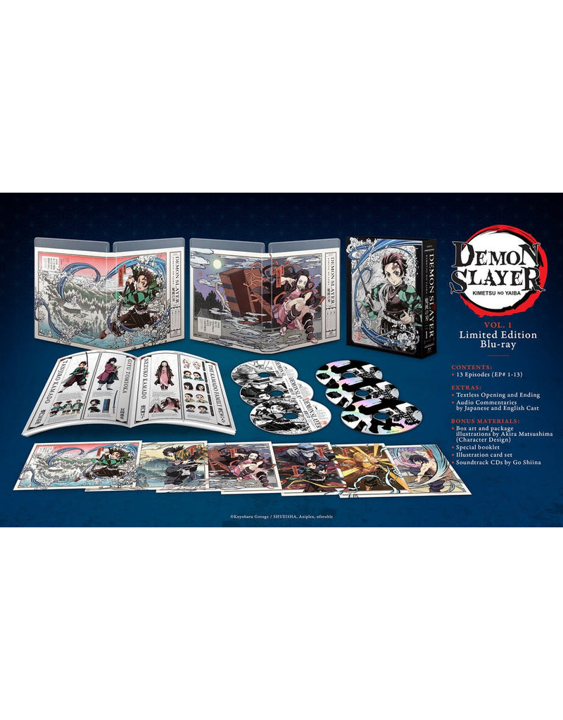 Aniplex of America Inc Demon Slayer Kimetsu No Yaiba Volume 1 Limited Edition Blu-Ray
