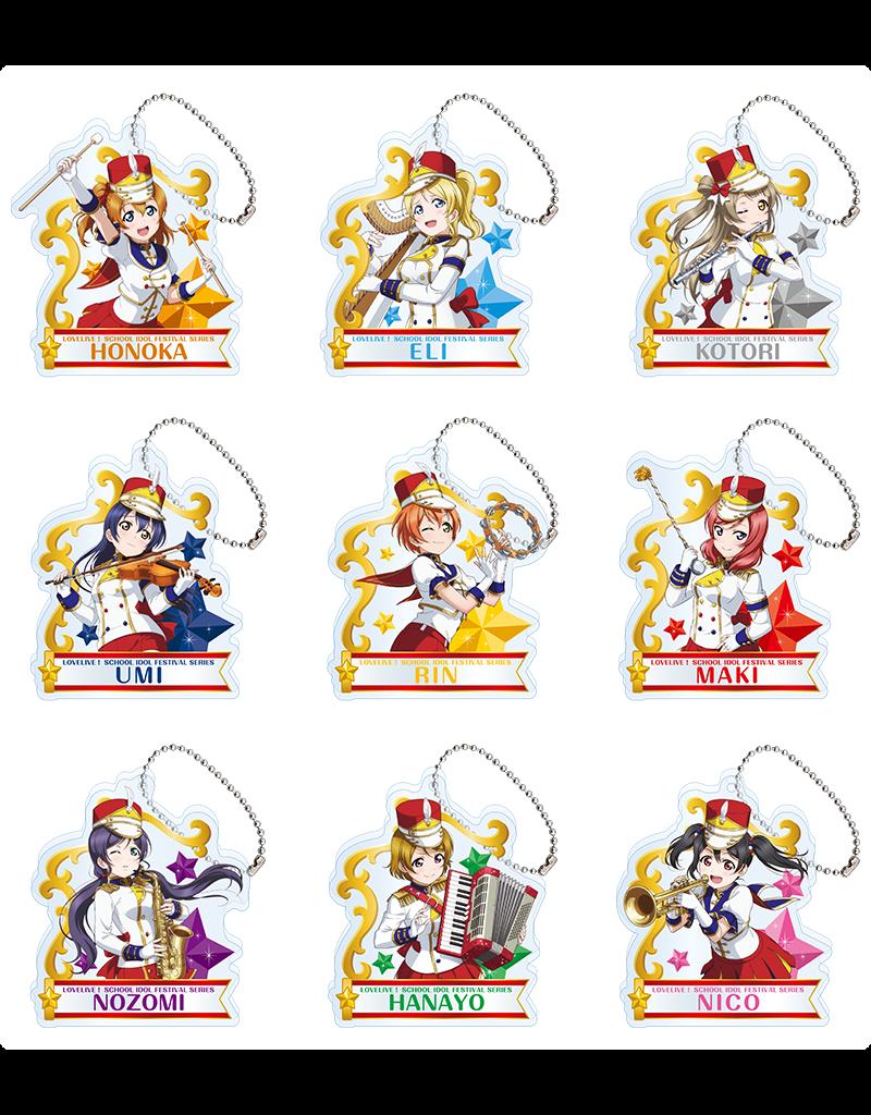 Sega Love Live! Sega Cafe Acrylic Keychain/Stand µ's Band