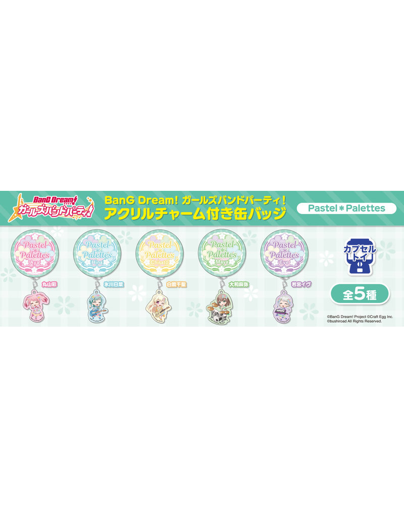 Bushiroad BanG Dream! Can Badge/Charm Pastel Palettes