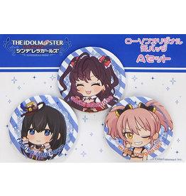 Lawsons Idolm@ster Cinderella Girls Can Badge Set A (Fumika/Shiki/Mika)