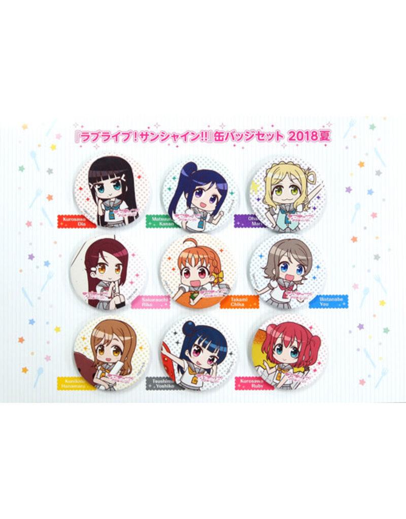 Kadokawa Love Live! Sunshine!! Aqours Can Badge Set 2018 C94