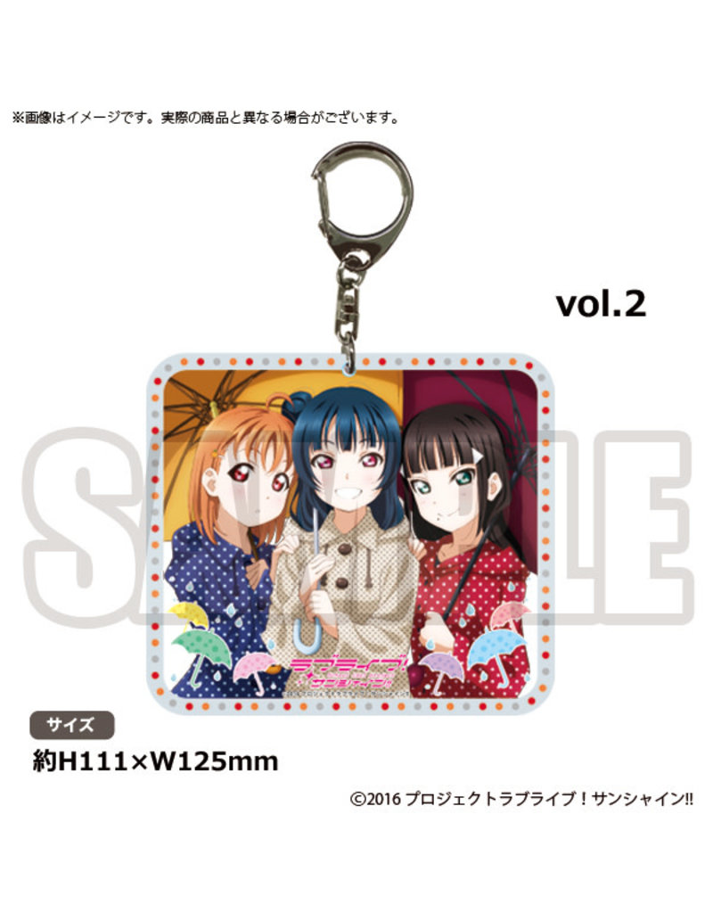 Bushiroad Aqours Radio Vol. 2 Keychain (Yoshiko,Chika,Dia)