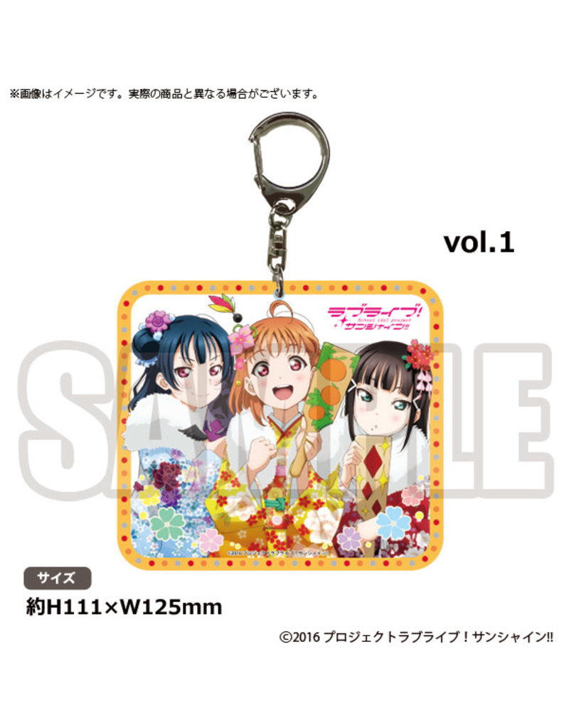 Bushiroad Aqours Radio Vol. 1 Keychain (Yoshiko,Chika,Dia)