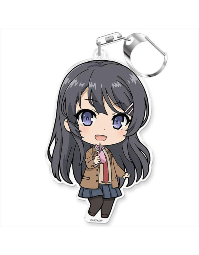 Azumaker Mai Sakurajima Uniform Vers. Bunny Girl Senpai Deka Keychain Azumaker