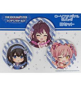 Lawsons Idolm@ster Cinderella Girls Can Badge Set B (Fumika/Shiki/Mika)