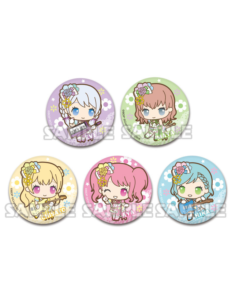 Bushiroad BanG Dream X Sanrio Can Badge Pastel Palettes