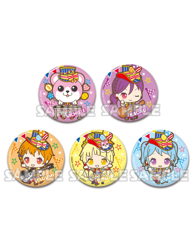 Bushiroad BanG Dream X Sanrio Can Badge Hello Happy World