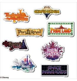 Square Enix Kingdom Hearts II World Sticker Set