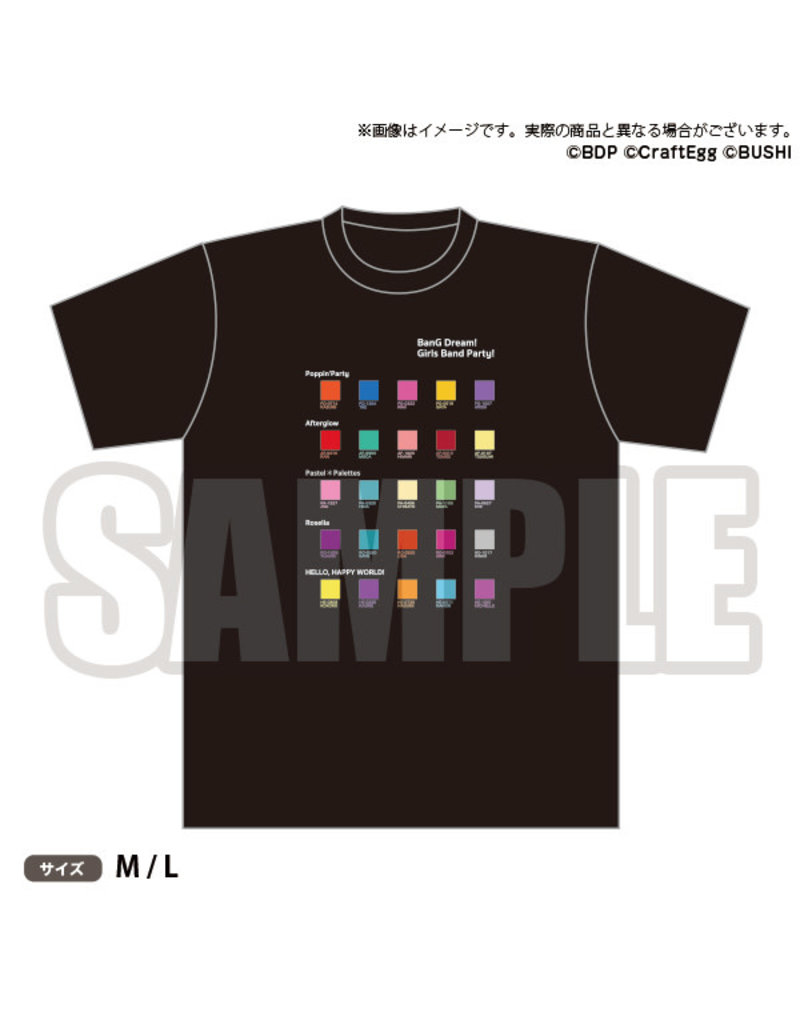 Bushiroad BanG Dream! Color Palette T-Shirt