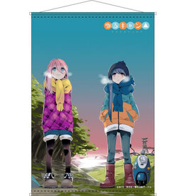 Furyu Nadeshiko and Rin Yurucamp B2 Wallscroll Furyu