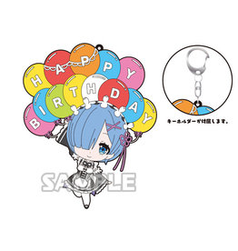 Bushiroad Rem Birthday Large Rubber Keychain