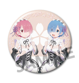 Hobby Stock Rem and Ram Maid Vers. Re:Zero Can Badge Hobby Stock