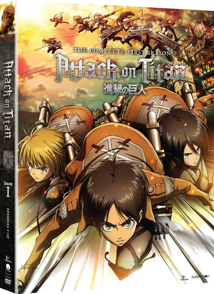 Funimation Entertainment Attack on Titan Season 1 Blu-Ray/DVD
