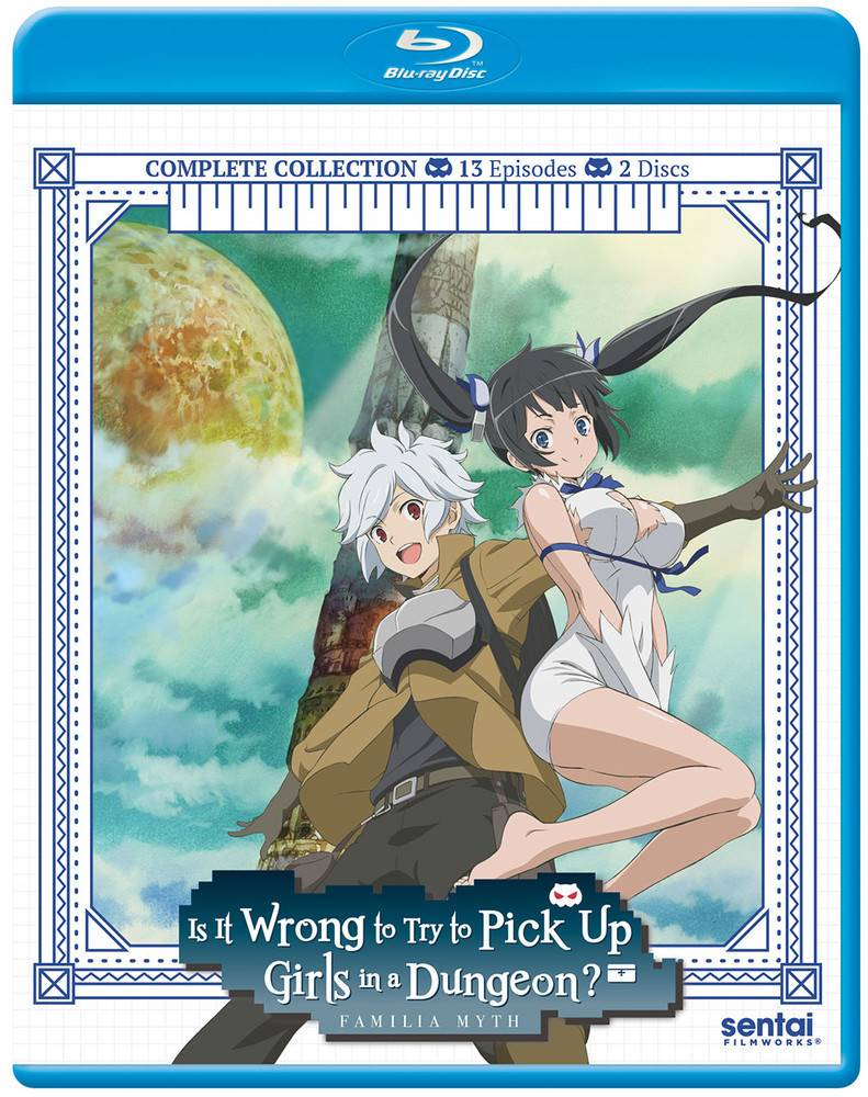 Sentai Filmworks Is It Wrong to Pick Up Girls in a Dungeon? Blu-Ray