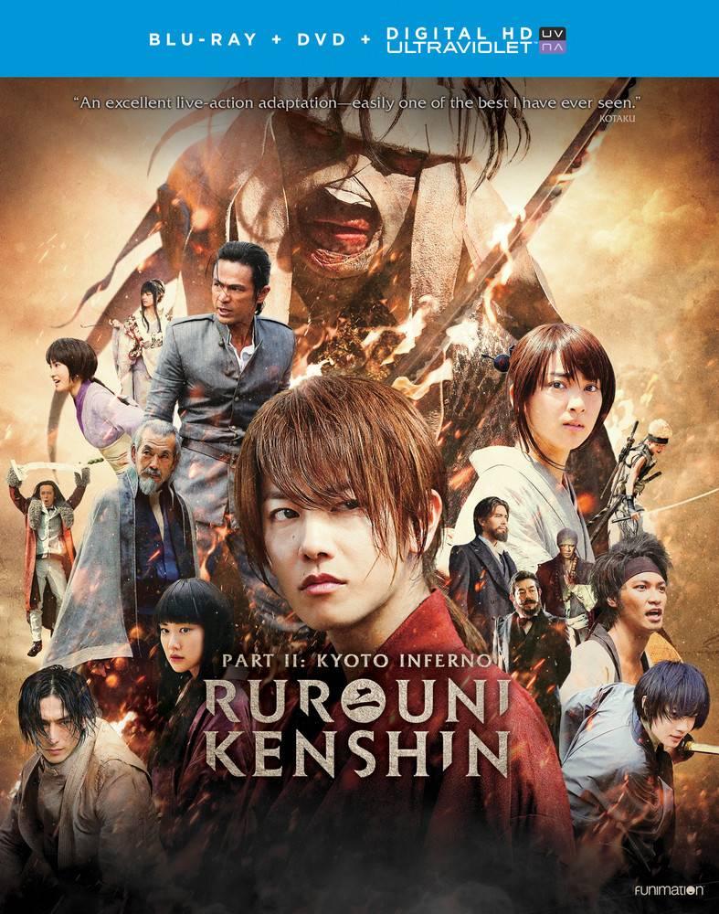 Funimation Entertainment Rurouni Kenshin Part 2: Kyoto Inferno Blu-Ray/DVD