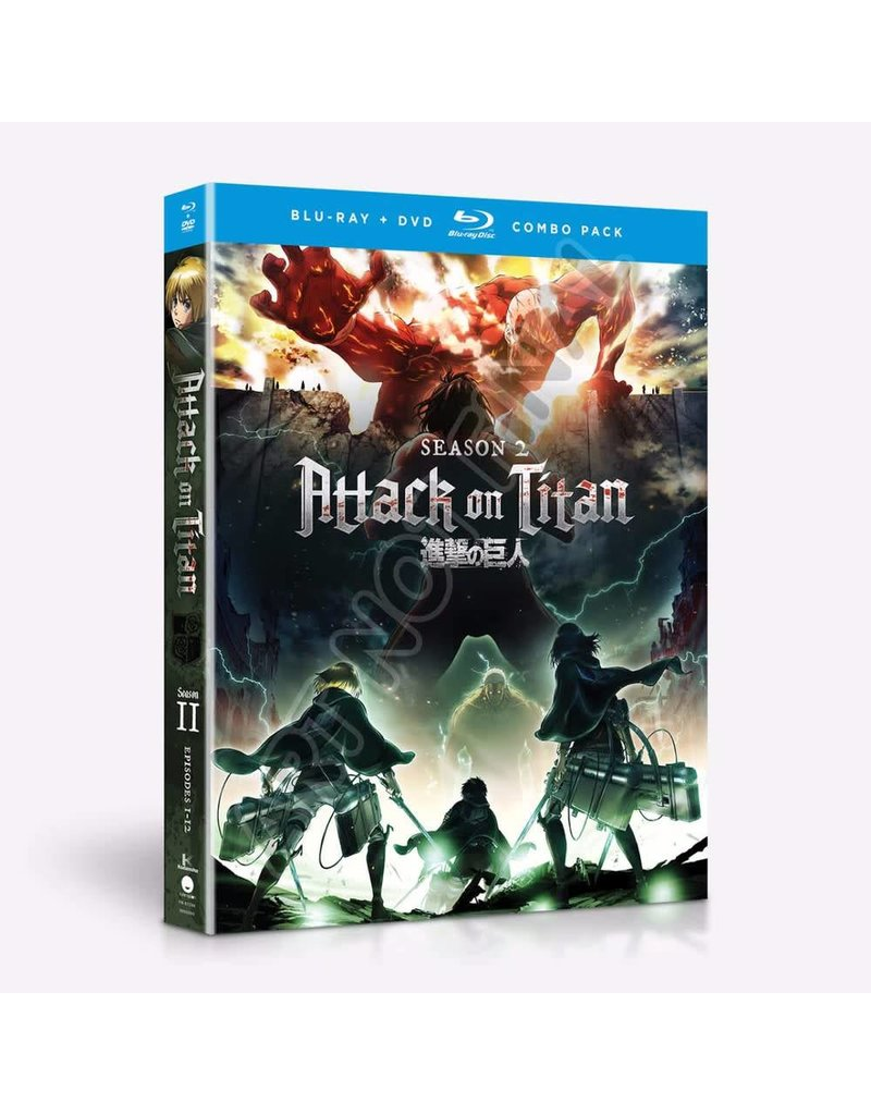 Funimation Entertainment Attack on Titan Season 2 Blu-Ray/DVD