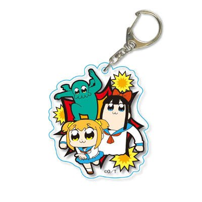 Pop Team Epic Die-cut Acrylic Key Ring