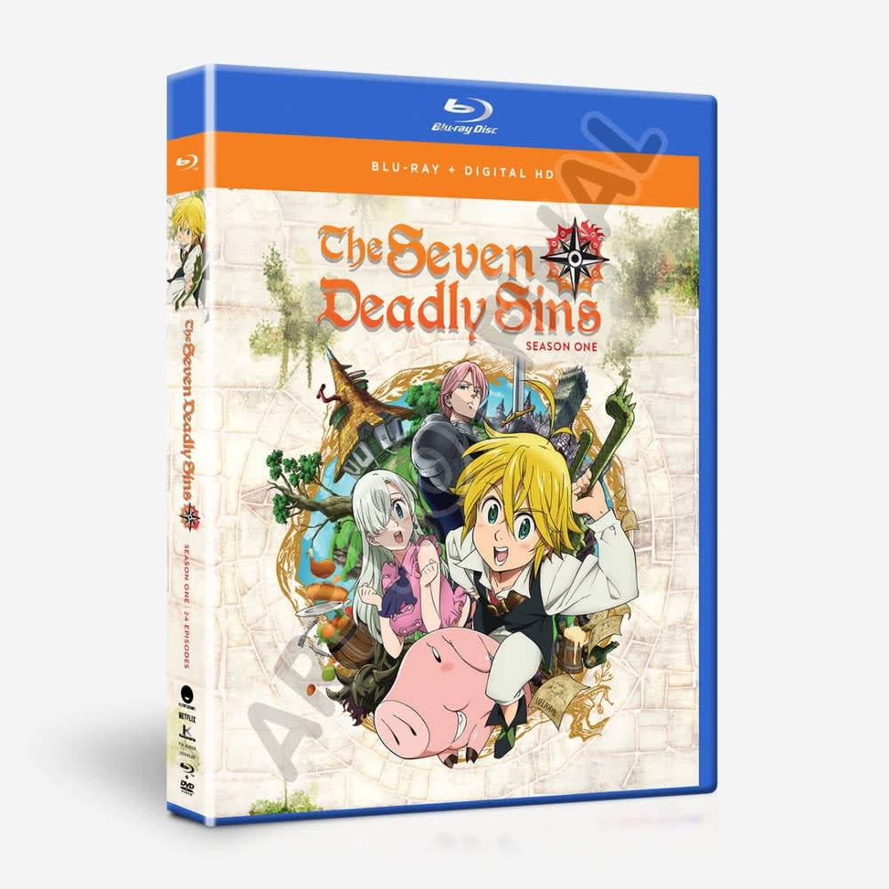 Funimation Entertainment Seven Deadly Sins Season 1 Complete Collection Blu-Ray