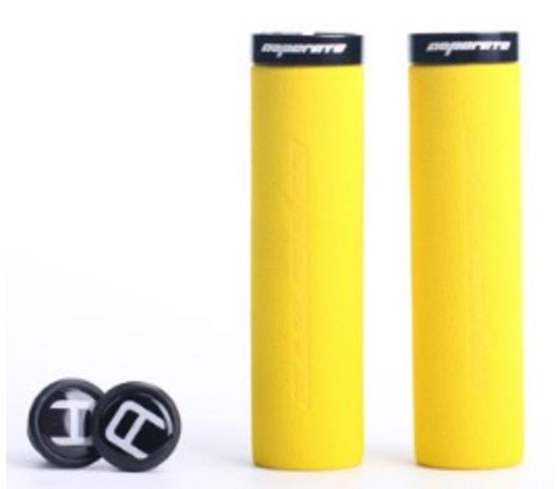 Blue Cycles Foam Lock On Grips Yellow