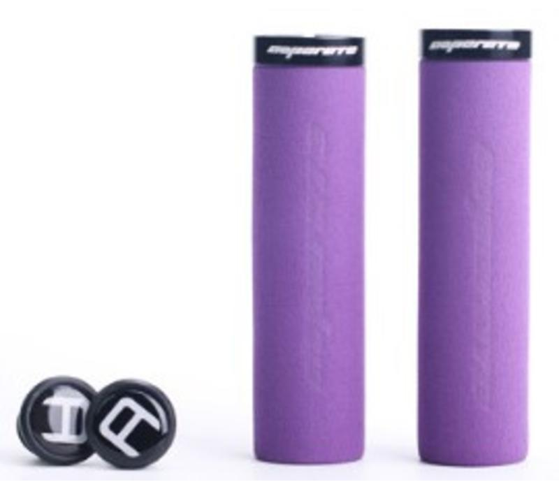 Blue Cycles Foam Lock On Grips Purple