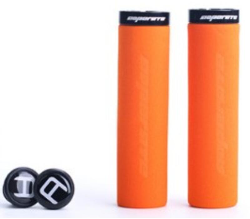 Blue Cycles Foam Lock On Grips Orange