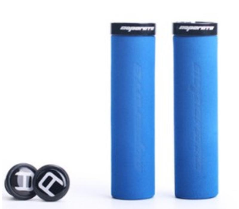 Blue Cycles Foam Lock On Grips Blue