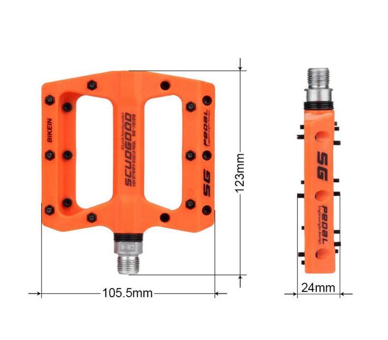 Scudgood Pro Flat Pedal Orange