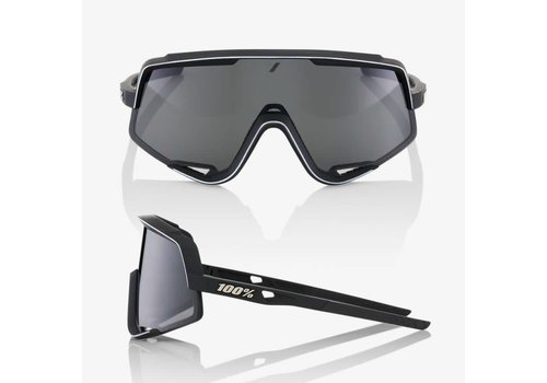 100% Glendale Soft Tact Black Sunglasses - Smoke Lens