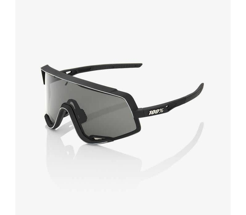 100% Glendale Soft Tact Black Sunglasses - Smoke Lens