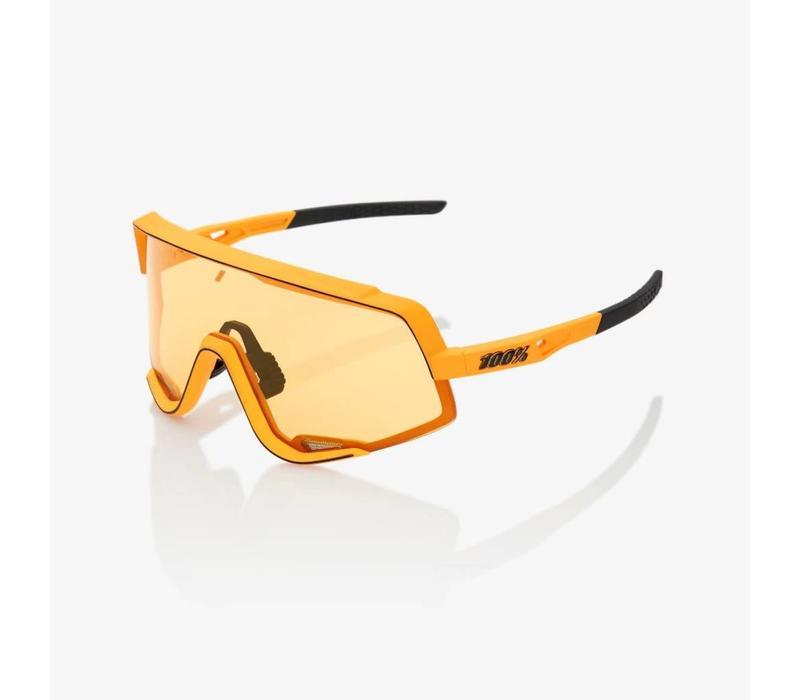 100% Glendale Soft Tact Mustard Sunglasses - Yellow Lens
