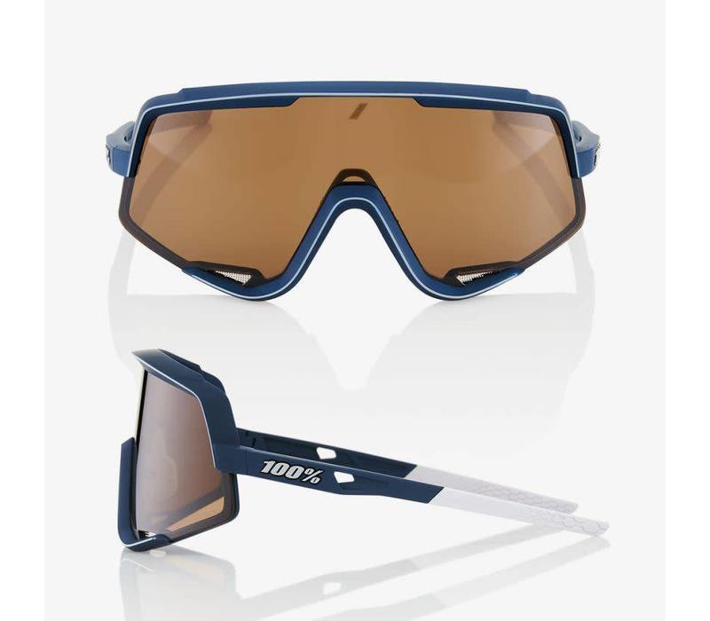 100% Glendale Soft Tact Raw Sunglasses - Bronze Lens
