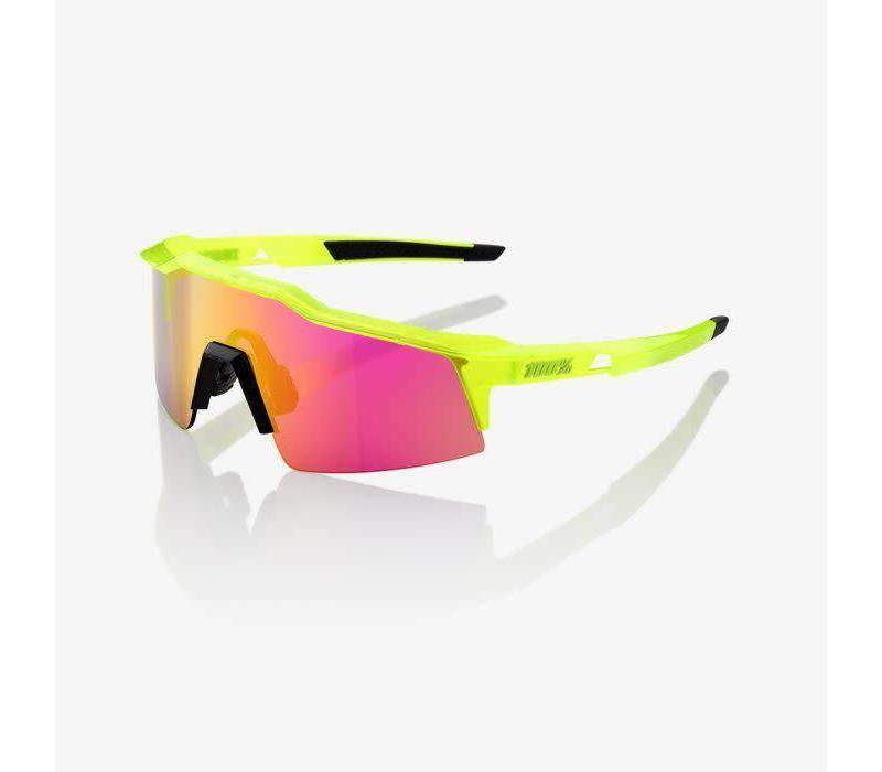 100% Speedcraft SL Acidulous Sunglasses - Purple Multilayer Mirror Lens