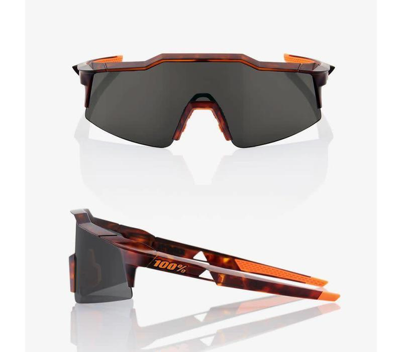 100% Speedcraft SL Matte Dark Havana Sunglasses - Smoke Lens