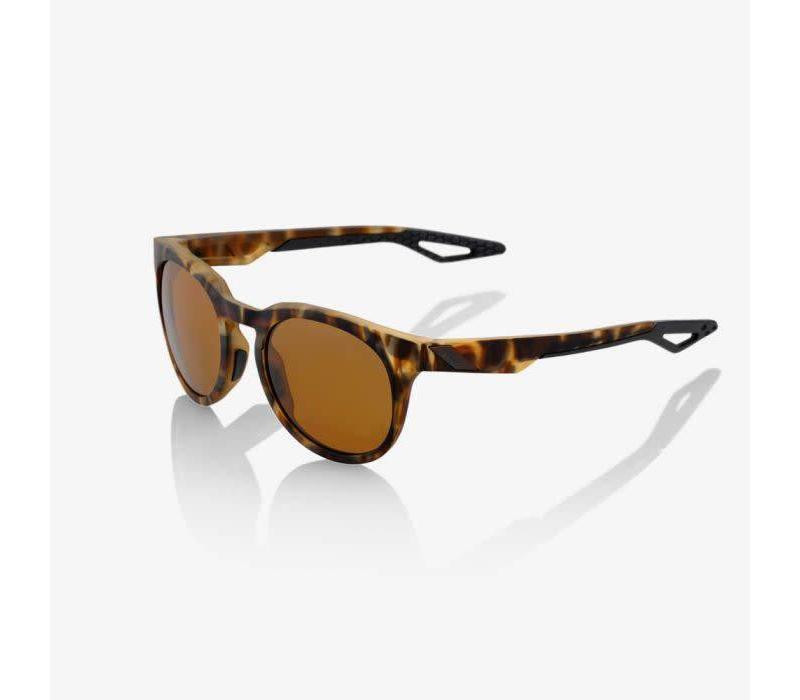 100% Campo Soft Tact Havana Sunglasses - Bronze PEAKPOLAR Lens
