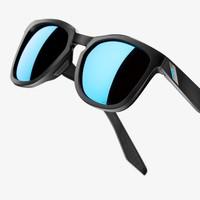 Hudson Matte Black - HiPER Blue Multilayer Mirror Lens
