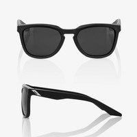 100% Hudson Soft Tact Black Sunglasses - Smoke Lens