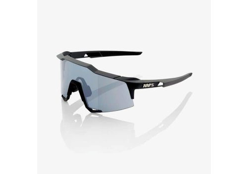 100% Speedcraft Soft Tact Black Sunglasses - Smoke Lens