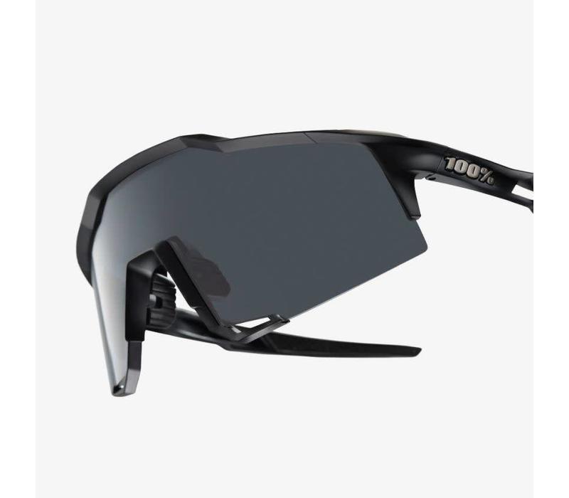 100% Speedcraft Soft Tact Black Sunglasses - Smoke Lens