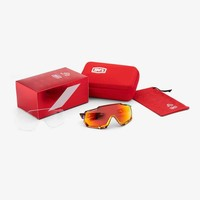 100% SPEEDTRAP Peter Sagan Chromium Red Sunglasses - HiPER Red Multilayer Mirror Lens