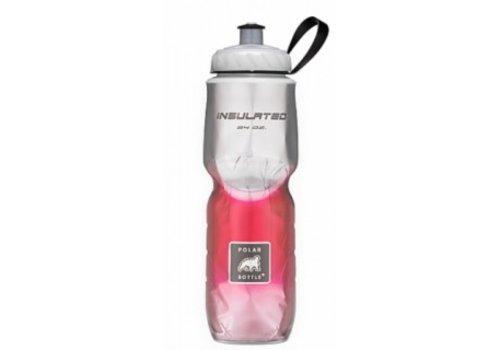 Polar Insulated Water Bottle 700ml/24 oz, Standard Valve, FADE RED