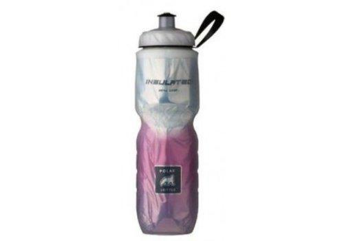 Polar Insulated Water Bottle 700ml/24 oz, Standard Valve, FADE PINK