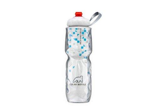 Polar Insulated Water Bottle 700ml/24 oz, with Zipstream Cap (One-Way Valve), BREAK-AWAY BLUE