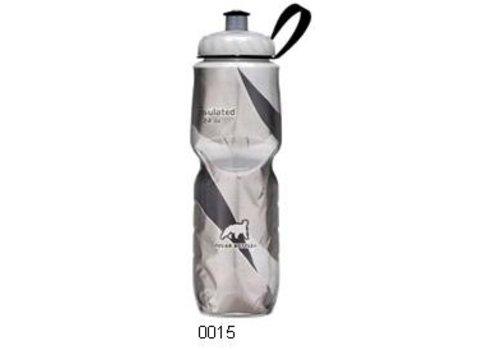 Polar Insulated Water Bottle 700ml/24 oz, Standard Valve, PATTERN BLACK