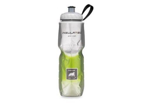 Polar Insulated Water Bottle 700ml/24 oz, Standard Valve, FADE GREEN