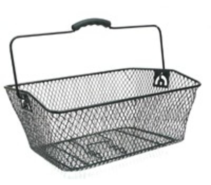 BPW Rear Bike Basket Wedge Black