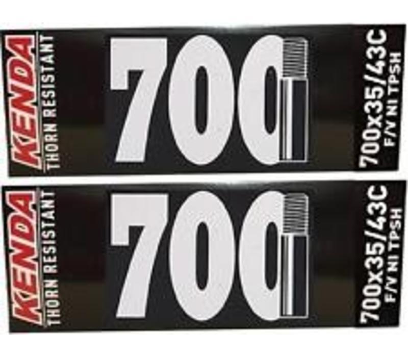 KENDA BIKE TUBE 700X35/43 THORN RESISTANT SCHRADER VALVE AV