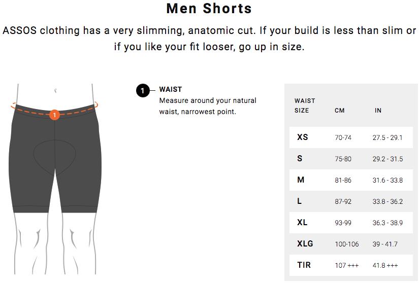Assos Men Short Size Guide