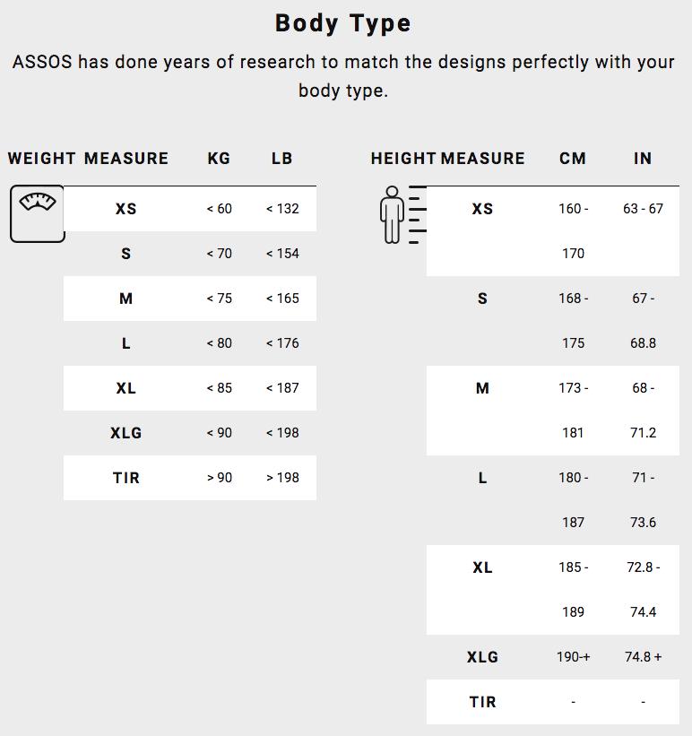 Assos Men Short Size Guide body type