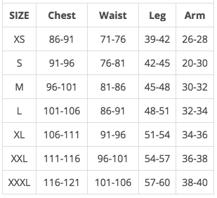 Cannibal Aero Jersey Size Guide